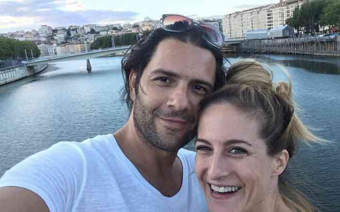 Canan Erguder with her husband