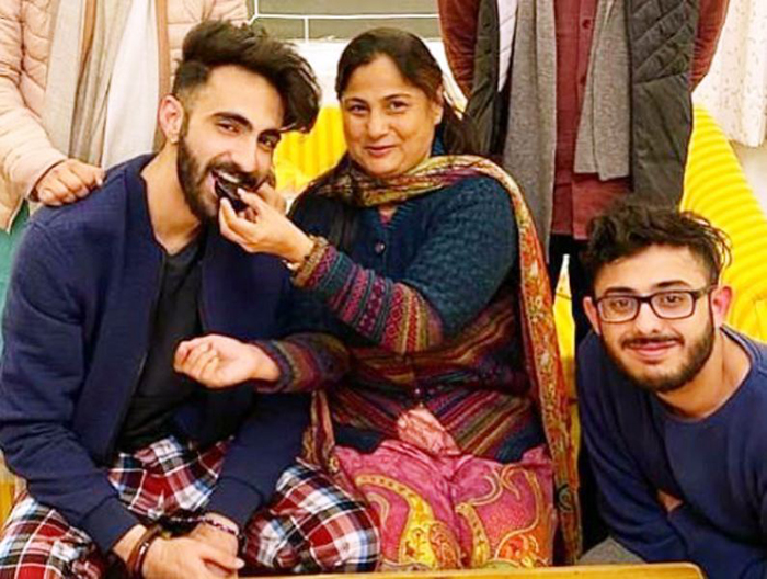 CarryMinati with his family