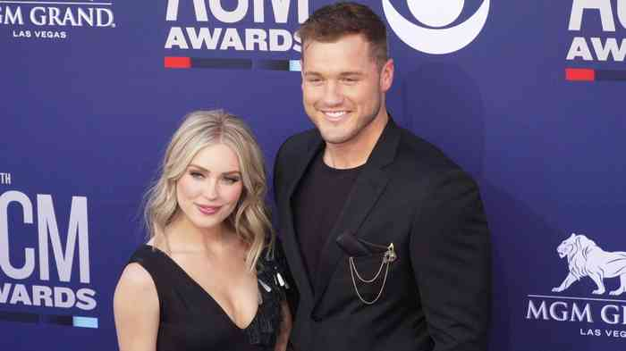 Colton Underwood with his wife