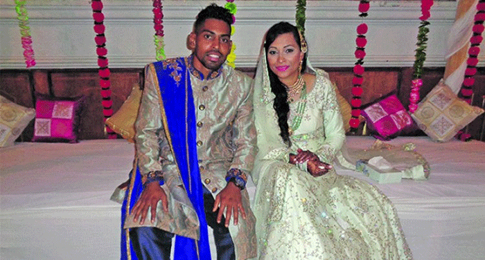 Roy Krishna with his wife