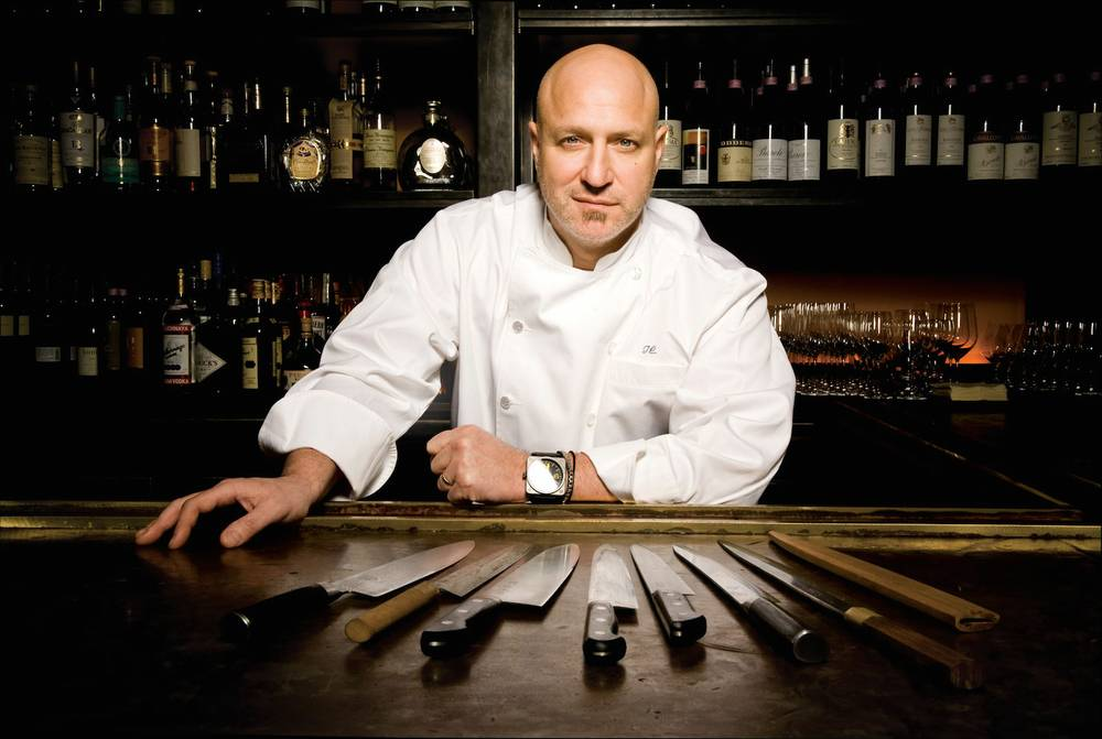 Tom Colicchio with his favorite tools