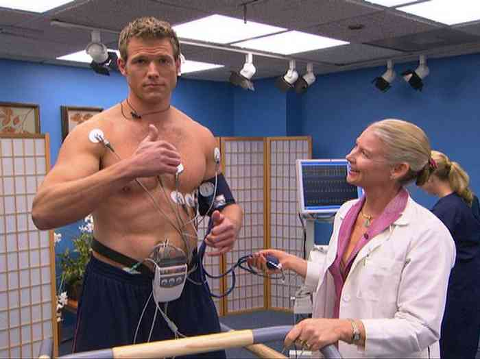 Travis Lane Stork with doctor