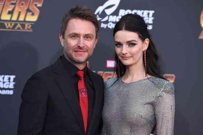 Chris Hardwick with his wife