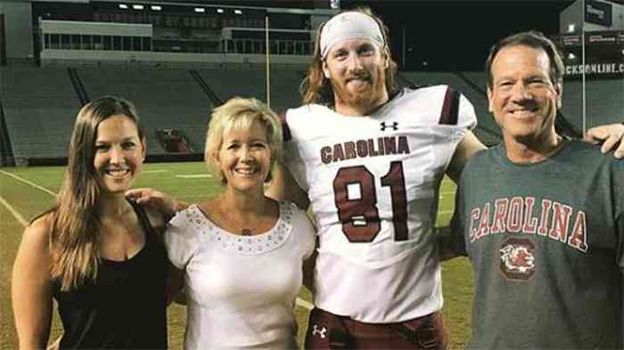 Hayden Hurst with his family
