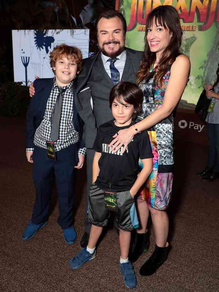Jack Black with his wife, Jack Black  with his family