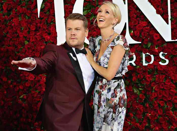 James Corden with his wife