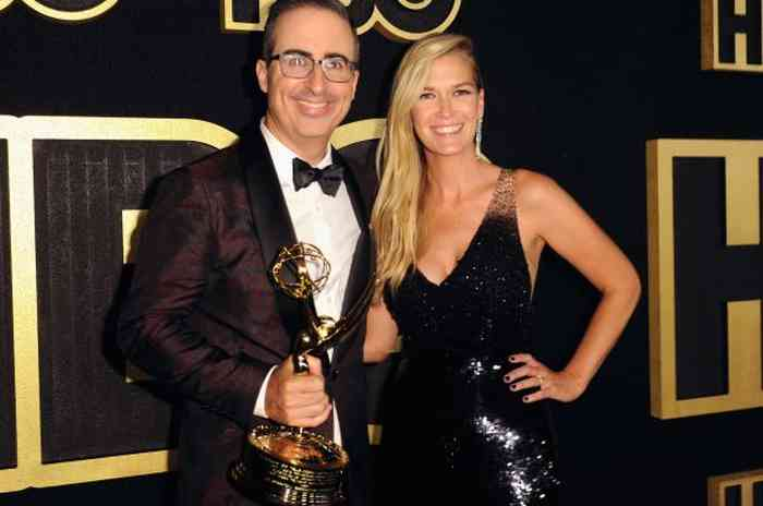 John Oliver with his wife