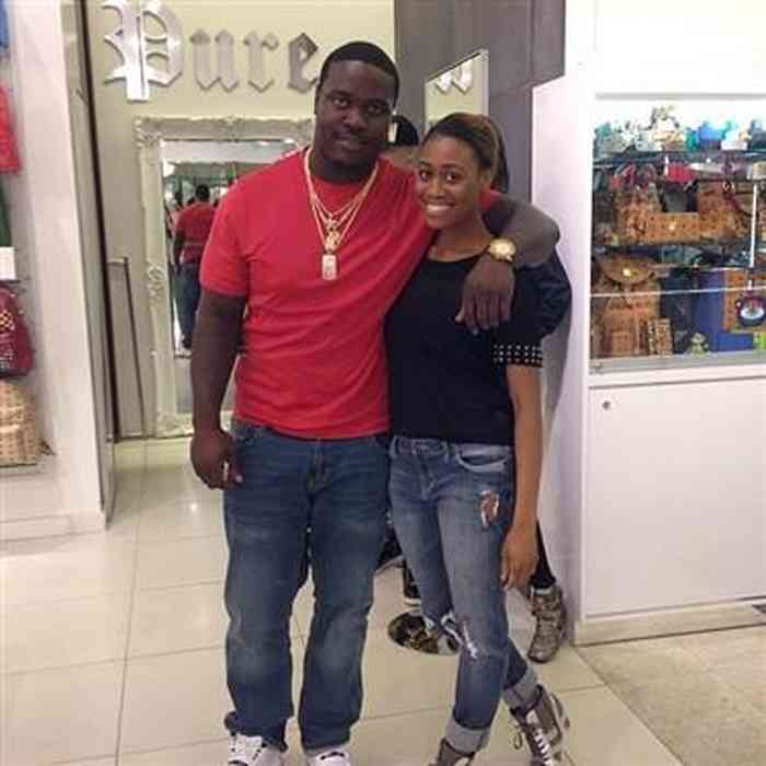 Melvin Ingram with his girlfriend at shopping mall