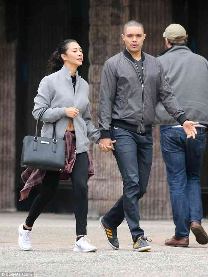 Trevor Noah with his wife