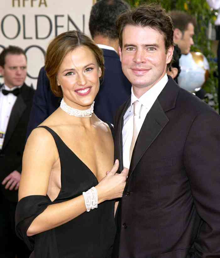 Scott Foley with his wife