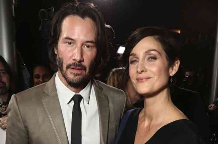 Carrie-Anne Moss with keanu reeves