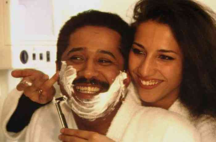 Cheb Khaled with his wife