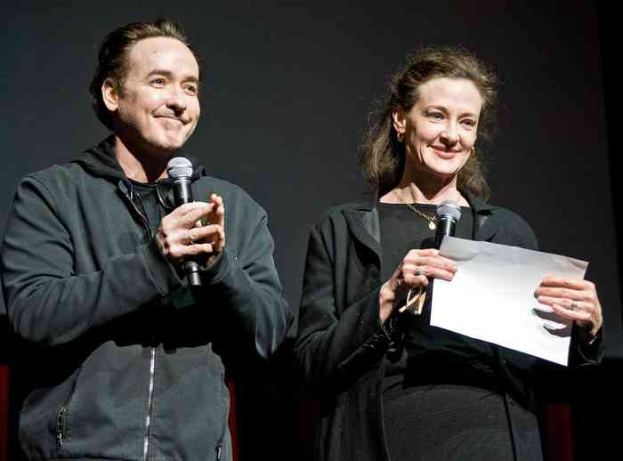 Joan Cusack with her husband