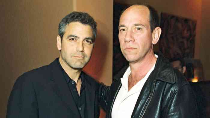 Miguel Ferrer with friend